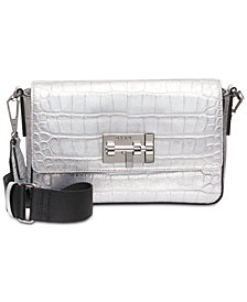 DKNY Elizabeth Metallic Snakeskin Crossbody, Created for Macy's