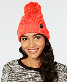 Under Armour Favorite Waffle-Knit Pom-Pom Beanie