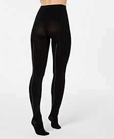 HUE® Rhinestone-Studded Back-Seam Tights
