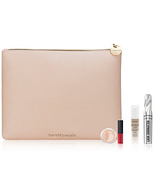 Receive a FREE Trial-Size 4-Pc. gift & Cosmetic Bag  with any $45 bareMinerals purchase