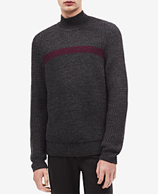 Calvin Klein Men's Textured Mock Neck Sweater