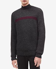 Calvin Klein Men's Textured Mock Neck Sweater