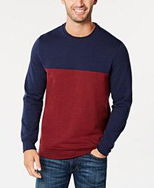 Club Room Men's Colorblocked Fleece Sweatshirt, Created for Macy's