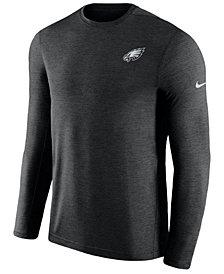 Nike Men's Philadelphia Eagles Coaches Long Sleeve Top