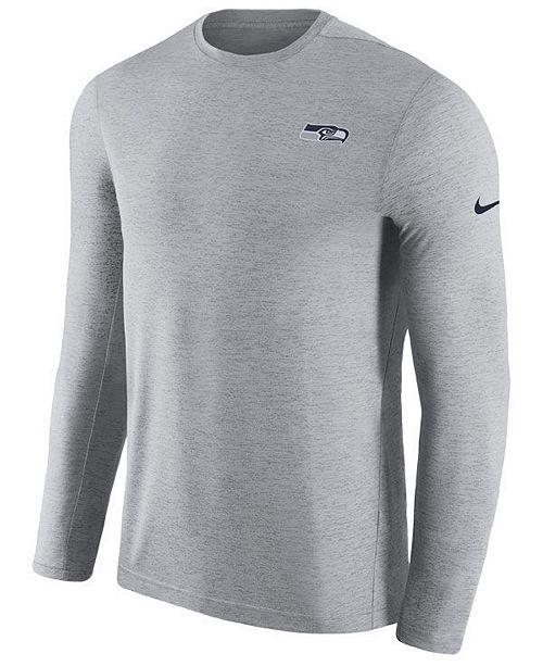 pretty nice 0f9b0 f1136 Nike Men's Seattle Seahawks Coaches Long Sleeve Top - Sports ...