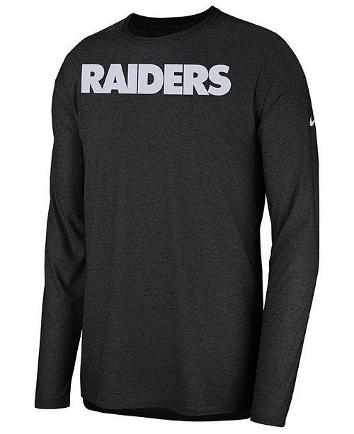 Nike Men s Oakland Raiders Player Long Sleeve Top - Sports Fan Shop ... 9672d0a9c