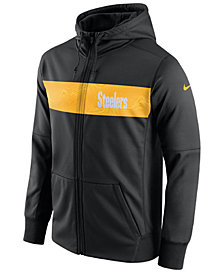 Nike Men's Pittsburgh Steelers Seismic Therma Full-Zip Hoodie