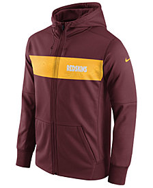 Nike Men's Washington Redskins Seismic Therma Full-Zip Hoodie