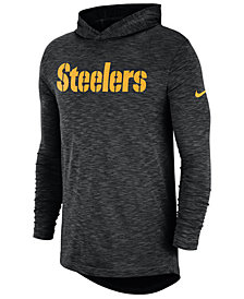 Nike Men's Pittsburgh Steelers Dri-Fit Cotton Slub On-Field Hooded T-Shirt