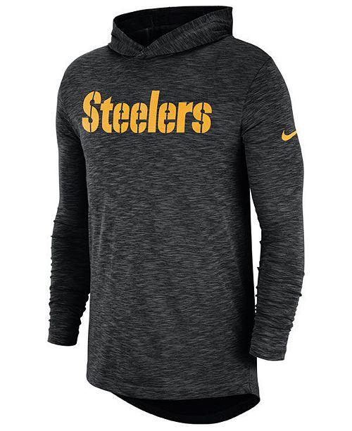 ... Nike Men s Pittsburgh Steelers Dri-Fit Cotton Slub On-Field Hooded T-  ... e0fdb32ad