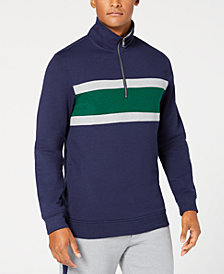 Club Room Men's Colorblocked 1/4-Zip Fleece Sweatshirt, Created for Macy's