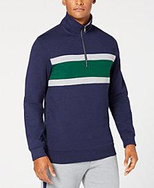 Club Room Men's Colorblocked 1/4-Zip Fleece Sweatshirt, Created for Macy's