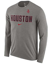 Nike Men's Houston Rockets Essential Facility Long Sleeve T-Shirt