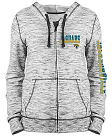 5th & Ocean Women's Jacksonville Jaguars Space Dye Full-Zip Hoodie