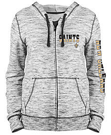 5th & Ocean Women's New Orleans Saints Space Dye Full-Zip Hoodie