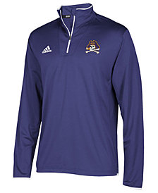 adidas Men's East Carolina Pirates Team Iconic Quarter-Zip Pullover