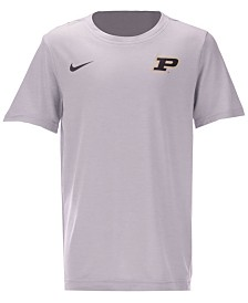 Nike Purdue Boilermakers Dri-FIT Coaches T-Shirt, Big Boys (8-20)