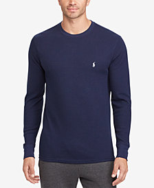 Polo Ralph Lauren Men's Big & Tall Waffle-Knit Crew-Neck Shirt