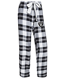 Concepts Sport Women's Oakland Raiders Headway Flannel Pajama Pants