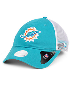 New Era Women's Miami Dolphins Trucker Shine 9TWENTY Cap