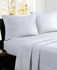 Madison Park Fretwork 4-PC Full Cotton Sheet Set