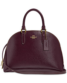 COACH Crossgrain Patent Leather Quinn Satchel