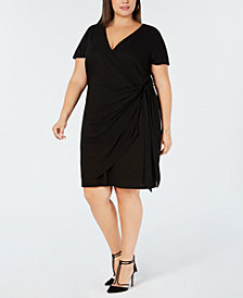 I.N.C. Plus Size Wrap Dress, Created for Macy's