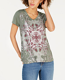 Style & Co Graphic Fantasy-Print T-Shirt, Created for Macy's