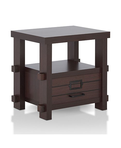 Furniture of America Colston Single Drawer End Table