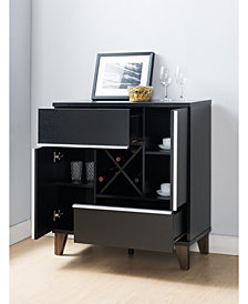 Jule Modern Storage Wine Bar And Cabinet
