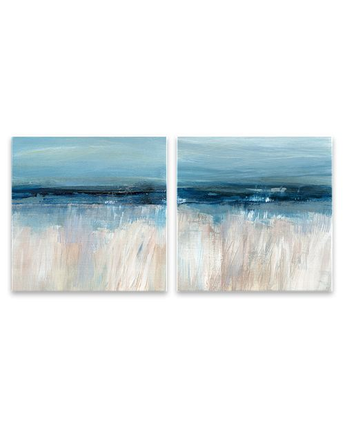 Artissimo Designs On the Severn Hand Embellished Canvas, Set of 2