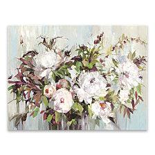 Peach Blossom Framed Hand Embellished Canvas