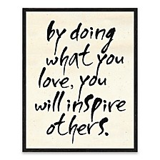 """By Doing What You Recessed Box Canvas Art- 16"""" W x 20"""" H x 1.25"""" D"""