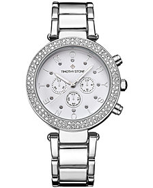 Timothy Stone Women's 'Desire' Crystal Accented Stainless Steel Bracelet Boyfriend Watch