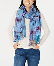 Echo Lofty Plaid Fringe Scarf