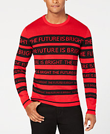 Alfani Men's Text Stripe Sweater, Created for Macy's