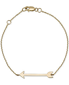 Sarah Chloe Arrow Link Bracelet in 14k Gold