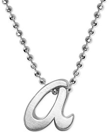 "Alex Woo Lowercase Initial 16"" Pendant Necklace in Sterling Silver"