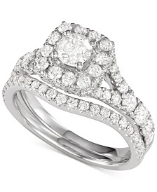 Diamond Halo Bridal Set (2 ct. t.w.)