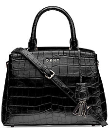DKNY Paige Croc Embossed Satchel, Created for Macy's