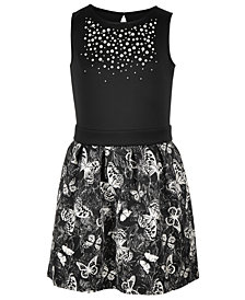 Epic Threads Big Girls Butterfly-Print Scuba Dress, Created for Macy's