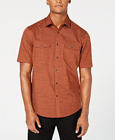 Alfani Men's Warren Textured Short Sleeve Shirt, Created for