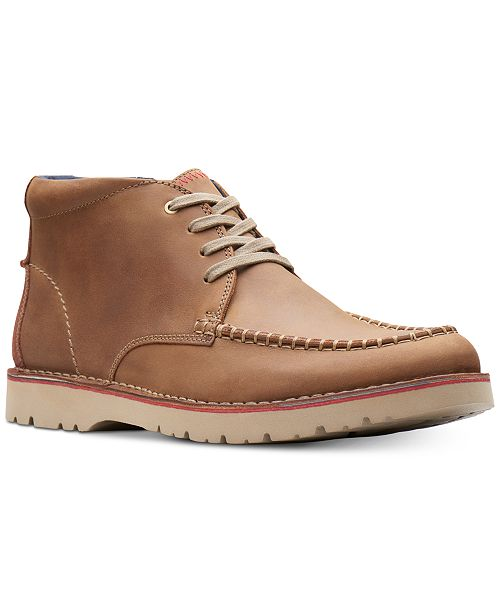 a7243b55ee69 ... Clarks Men s Vargo Apron-Toe Leather Chukka Boots