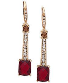 Anne Klein Gold-Tone Stone & Crystal Drop Earrings