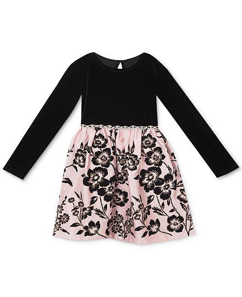 908d3bb80 Rare Editions Baby Girls Velvet   Flocked Dress   Reviews - Dresses ...