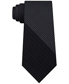 DKNY Men's Variegated Micro Panel Slim Silk Tie