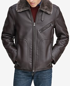 Marc New York Men's Fleece-Collar Jacket