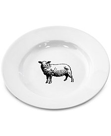 Thirstystone Sheep Ceramic Appetizer Plate