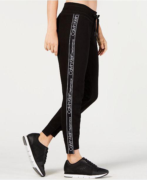 1c89c950b80ee Calvin Klein Logo Terry Step-Hem Joggers & Reviews - Pants ...