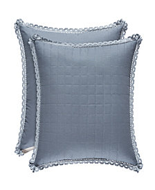 "Piper & Wright Braylee Indigo 18"" Square Pillow"